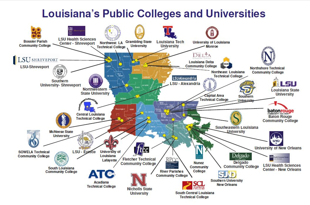 colleges in louisiana map Open Source Ticket System Louisiana Community Colleges colleges in louisiana map