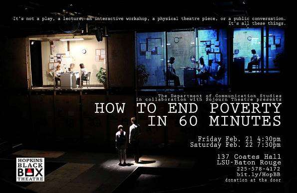 """How to End Poverty in 60 Minutes"" Runs Feb. 21 and 22"