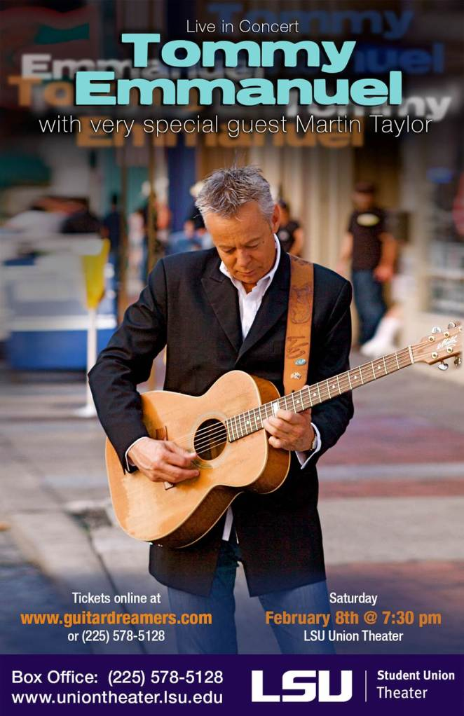 tommy emmanuel lsu union theather feb 8 2014 baton rouge